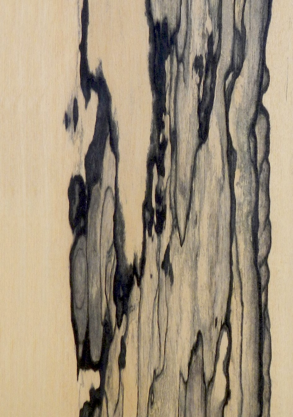 Black and white ebony veneer